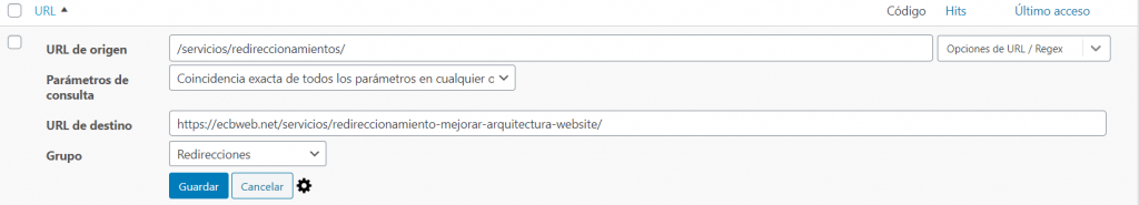 redireccionamiento mejorar arquitectura website ecbweb