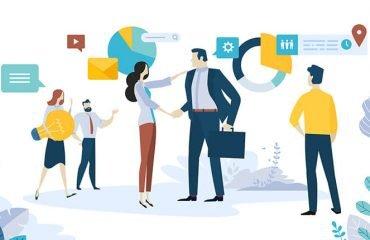 diseño desarrollo web Panamá Imagen tipo comic cerrando un negocio y aportando ideas