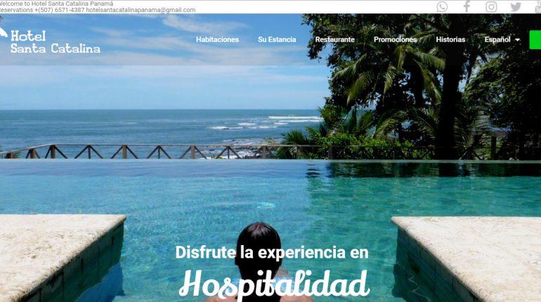 Portada de la web del Hotel Santa Catalina Panama