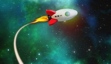 cohete en orbita