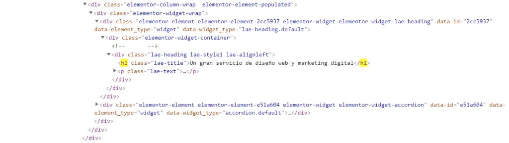 potenciar website etiquetas h1 portada posicionamiento SEO ECBWEB codigo tag h1 html de ecbweb