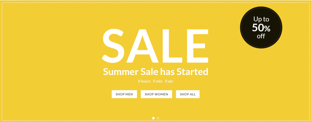 Summer Sale razones para website ecbweb
